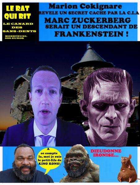 ZUCKERBERG DESCENDRAIT DE FRANKENSTEIN